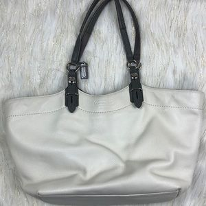 Coach pebble leather bag